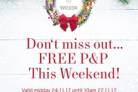 Weleda Free post and packing this weekend 24/11/17 to 10 am 27/11/17