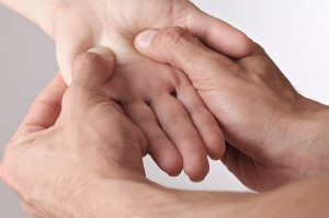 Acupressure hand at Southwell Acupuncture Clinic