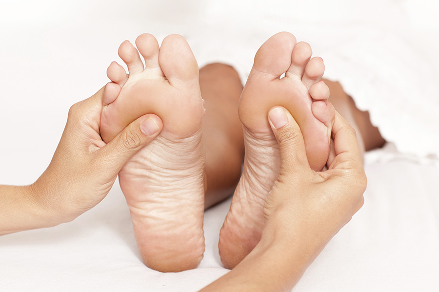 Acupressure feet at Southwell Acupuncture Clinic